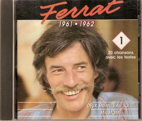 FERRAT 1961 1962 - TEMEY enregistrement de 1980 -