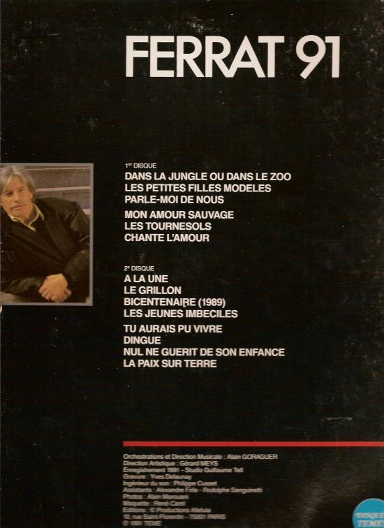 Verso de ce disque sorti en 1991, la version public  est sortie en 200