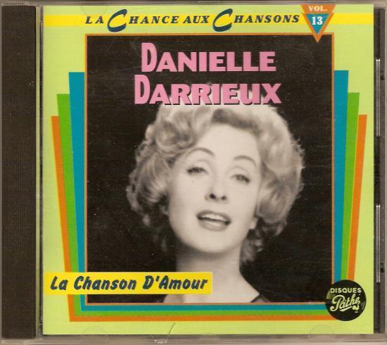 """La chanson d'amour par Danielle DARRIEUX, CD """"la chanse aux chans"""