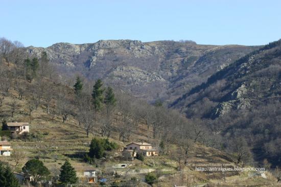 la montagne à Antraigues hivers 2009
