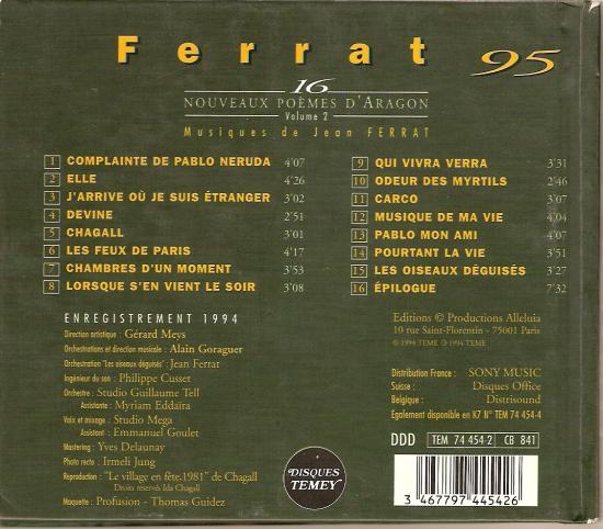 Verso du CD