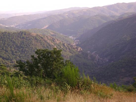 juillet 2009, toujours la vue sur Vals les bains et Aubenas