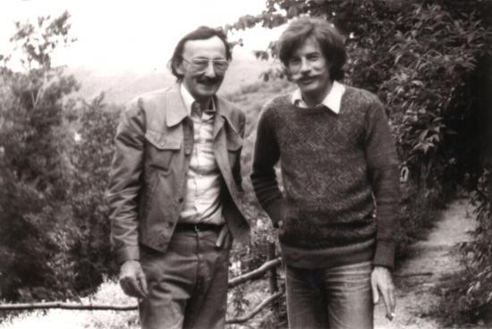 Jean FERRAT et Guy THOMAS...je pense que la photo a été prise à Antraigues dans les années 1970